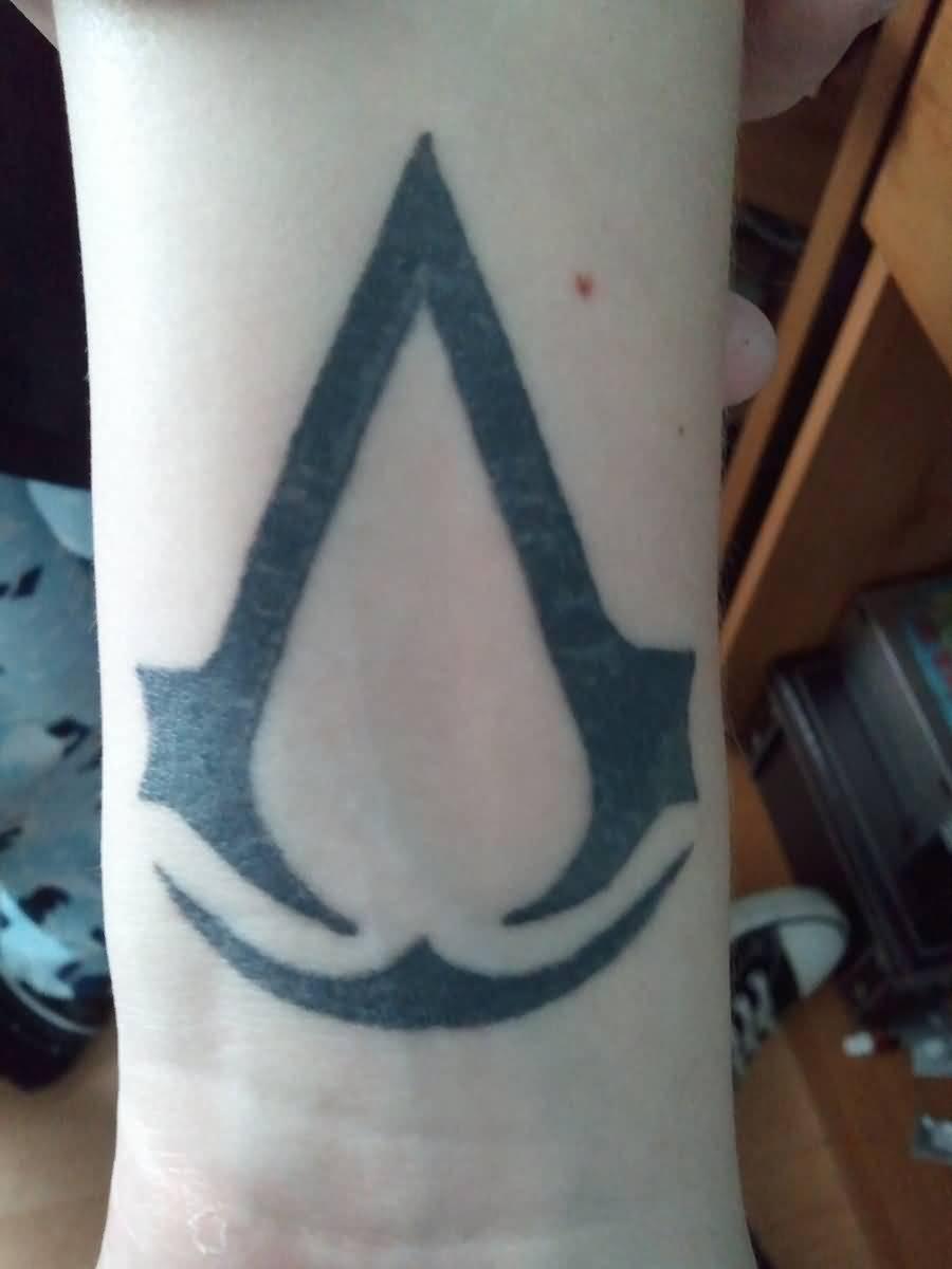 66dcc33b2b1ec Assassins Creed Tattoo On Forearm by Beanie2888