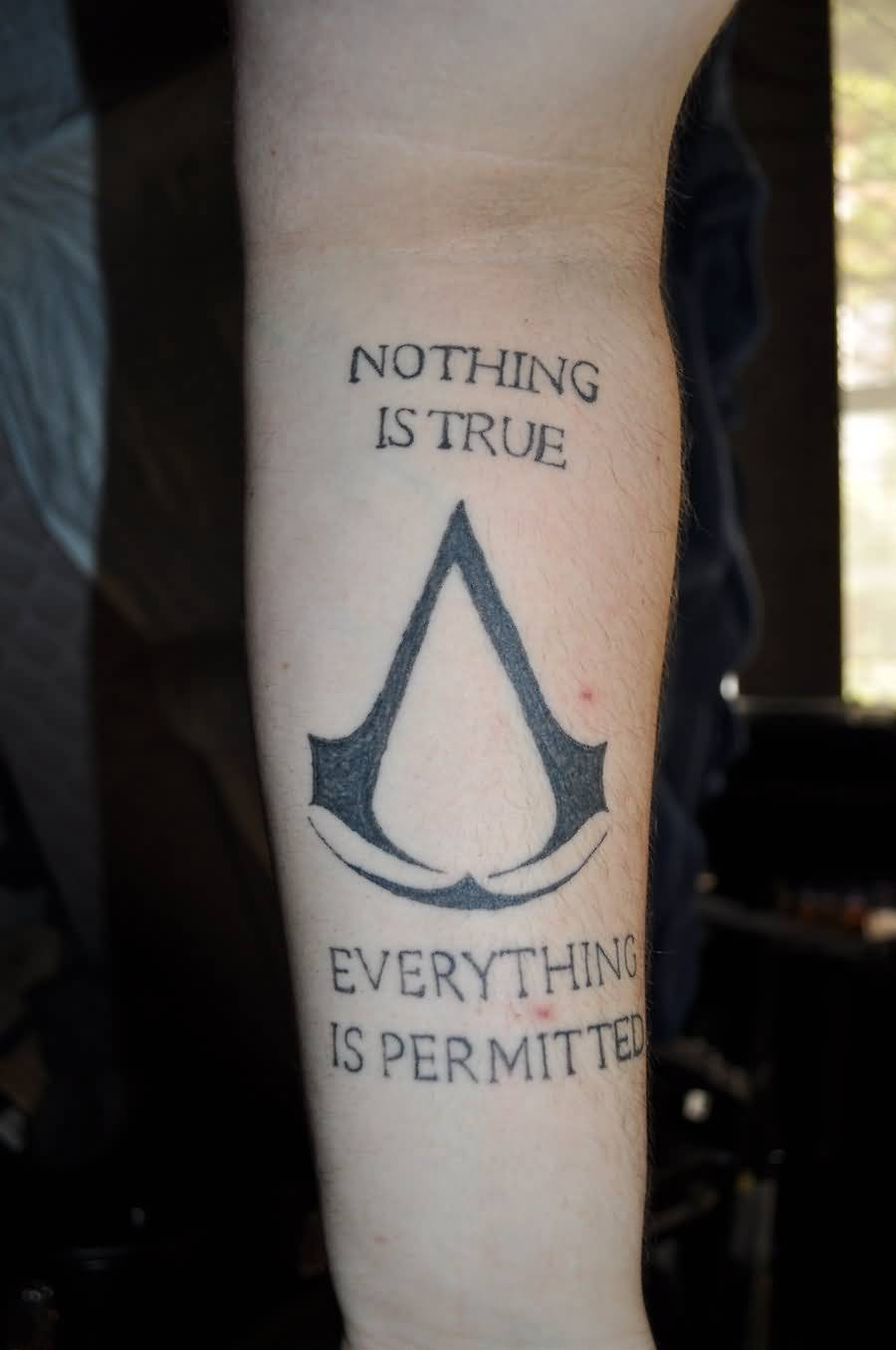 Assassins Creed Tattoo On Forearm By Judoguru