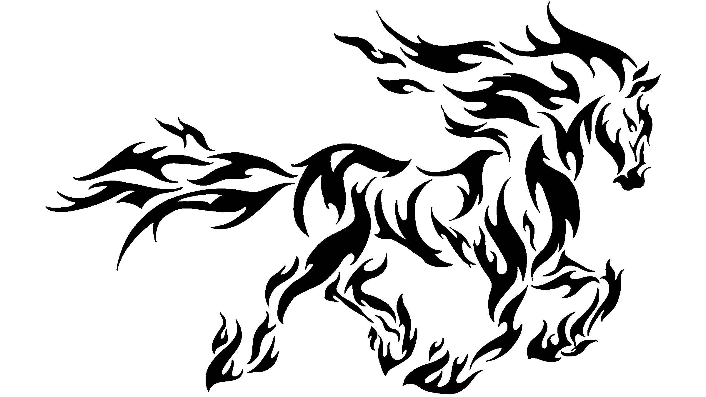 This is a photo of Persnickety Tribal Horse Drawing