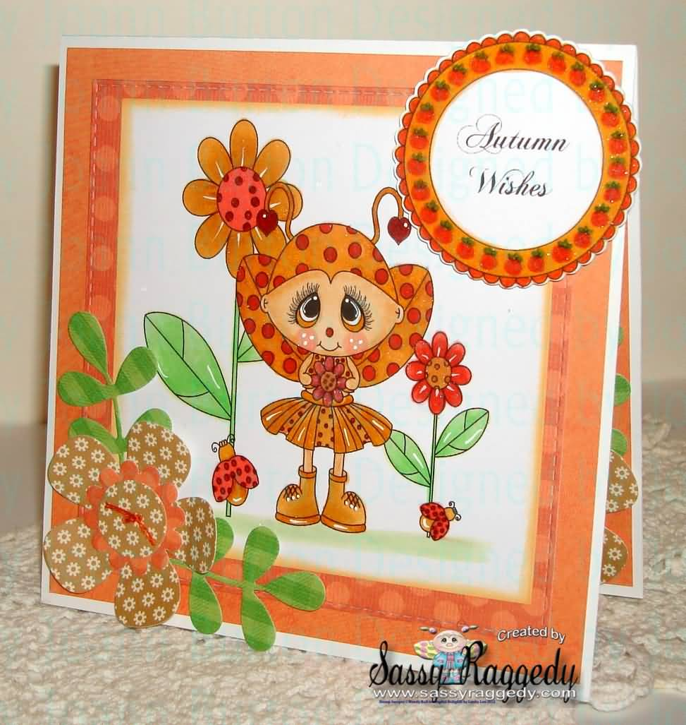 Autumn Wishes Beautiful Greeting Card