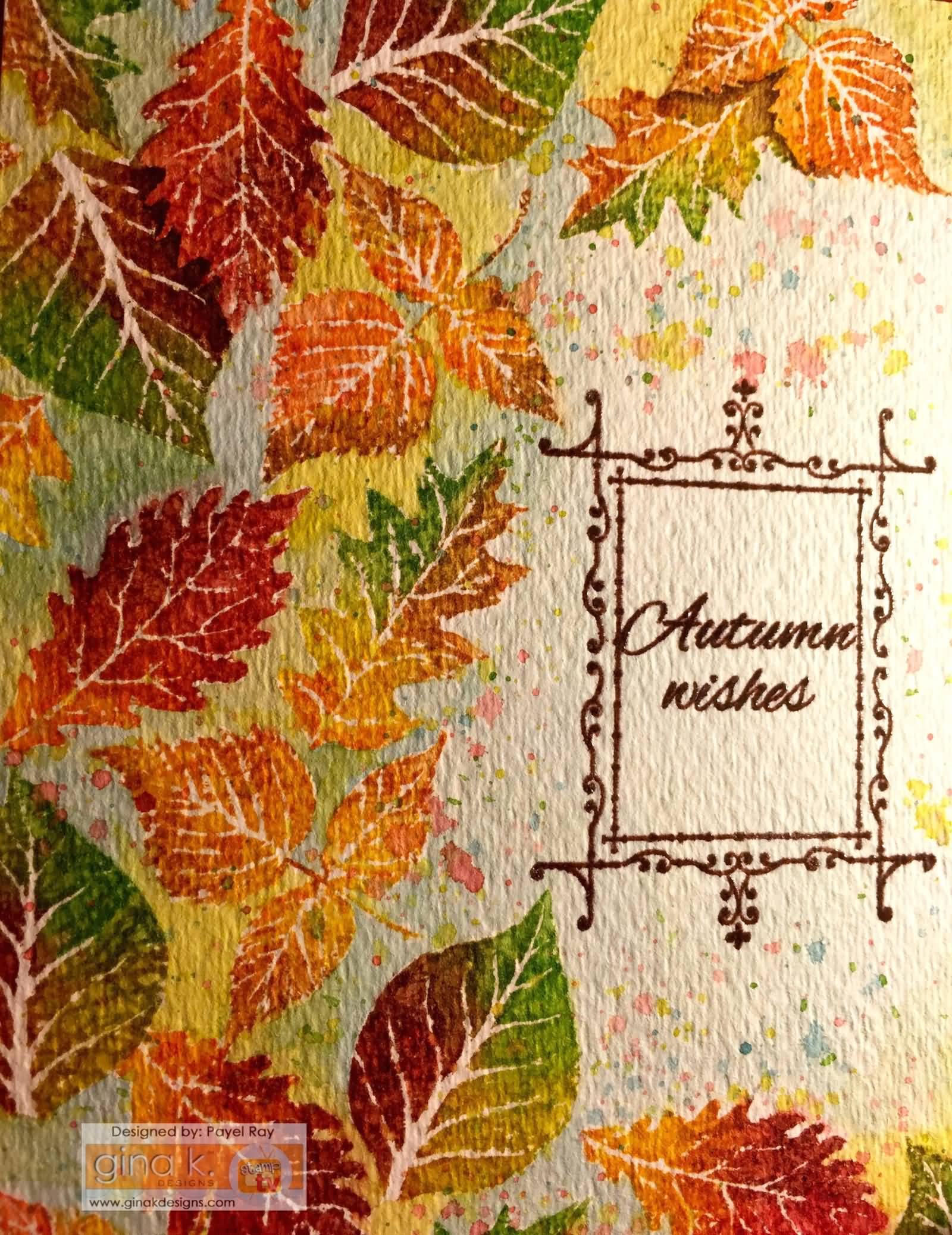 Autumn Wishes Beautiful Greeting Card · Autumn Wishes Card