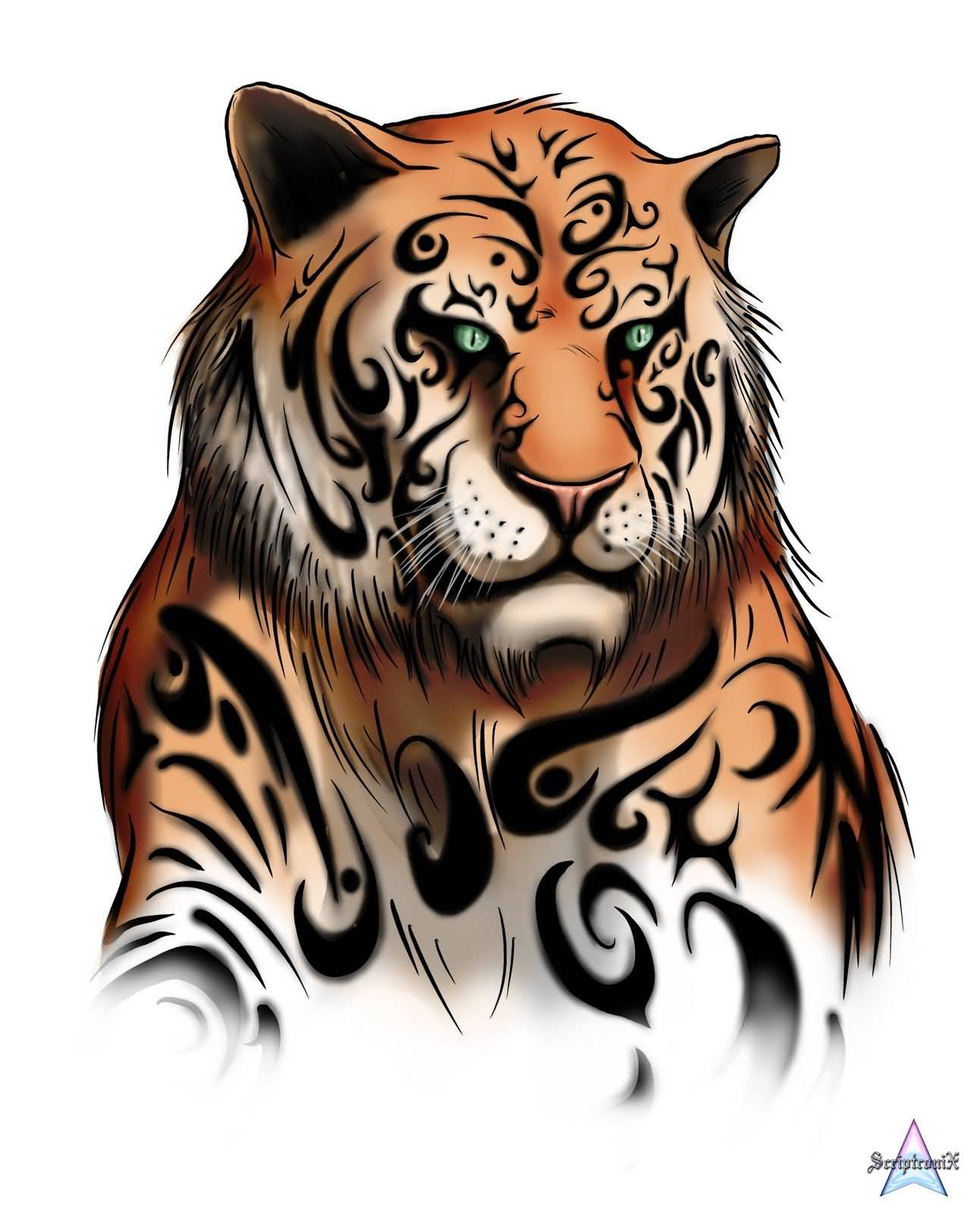 tiger tattoo stencil. Black Bedroom Furniture Sets. Home Design Ideas