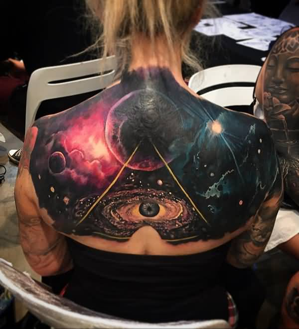 Tattoo Quotes About The Universe: 9+ Upper Back Universe Tattoos
