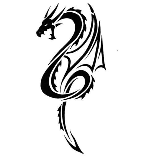 226605411 Awesome Roaring Tribal Dragon Tattoo Design