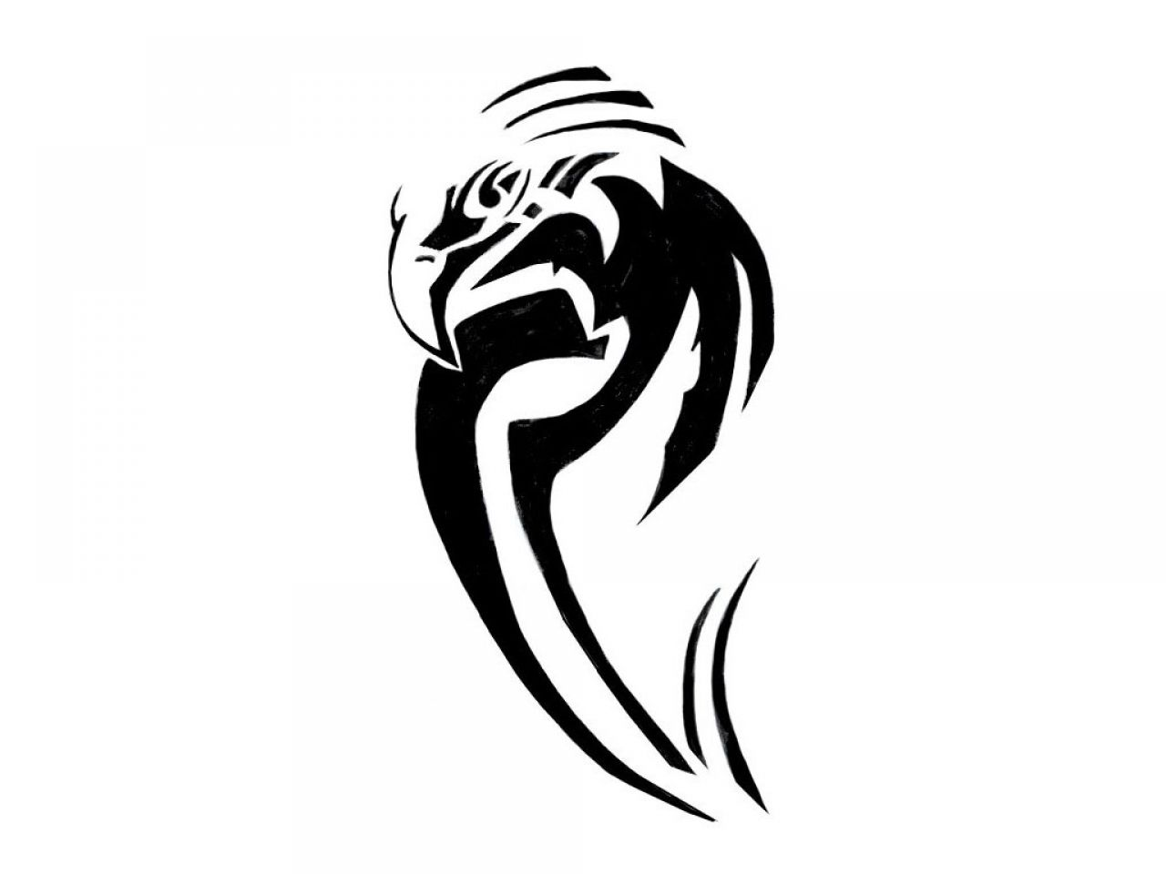 53 famous tribal tattoo designs for Tribal eagle tattoos