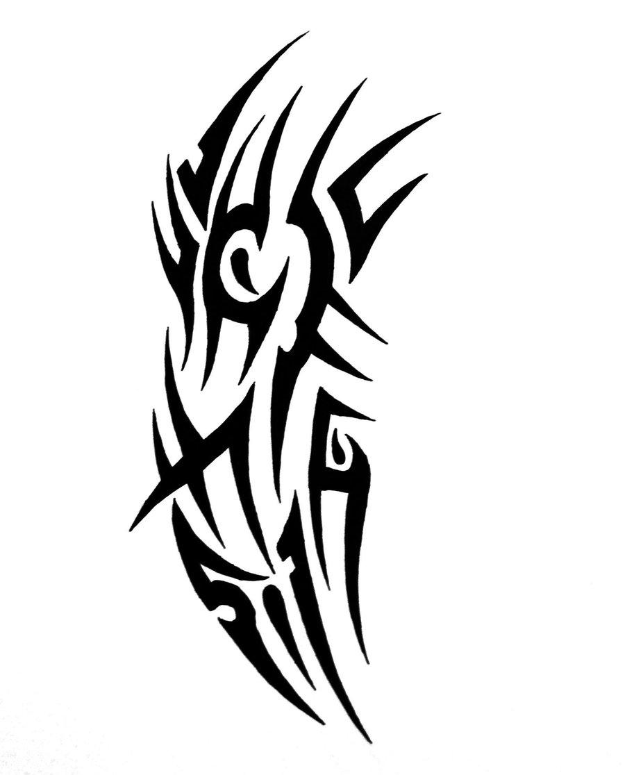 nice tribal tattoo design by sorentalon. Black Bedroom Furniture Sets. Home Design Ideas