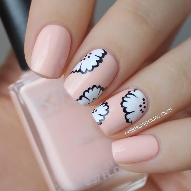50 most beautiful pastel nail art design ideas for trendy girls baby pink and and white flowers pastel nail art prinsesfo Gallery