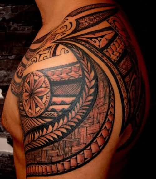 c7d3a51a2724b Beautiful Maori Tribal Tattoo On Left Shoulder For Men