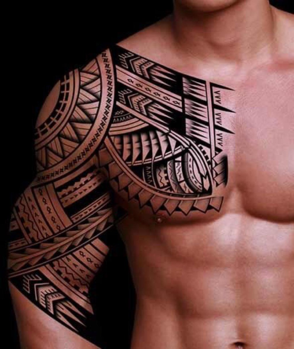 32 amazing tribal sleeve tattoos. Black Bedroom Furniture Sets. Home Design Ideas