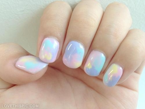 Beautiful Pastel Nail Art Design Idea