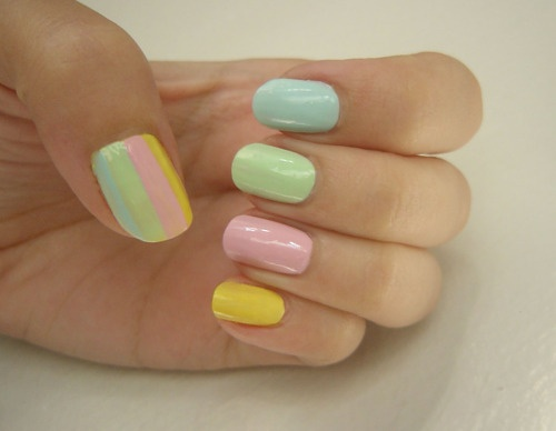 Beautiful Pastel Nail Art