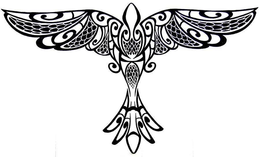 50+ Tribal Birds Tattoos