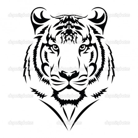 Gallery For gt Simple Tiger Face Stencil
