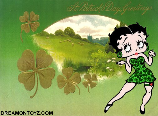 betty boop wishing st patricks day