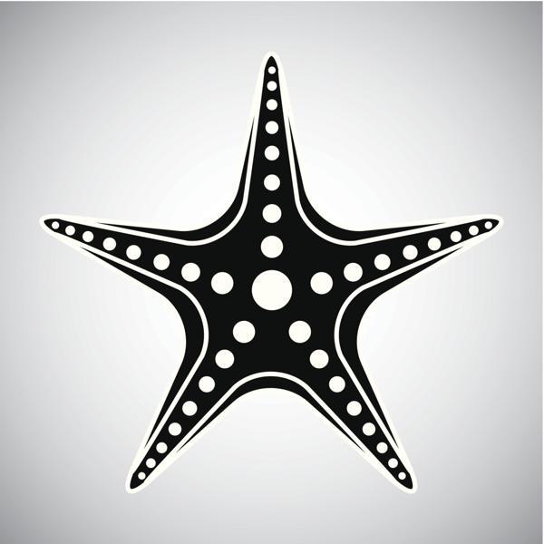 1add0a3b2 Black And White Tribal Starfish Tattoo Design
