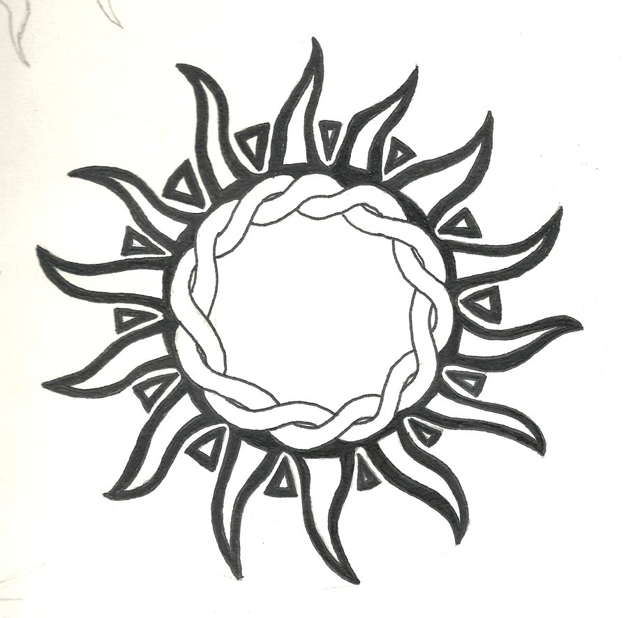 Tattoo Designs Sun: 55+ Tribal Sun Tattoos Collection