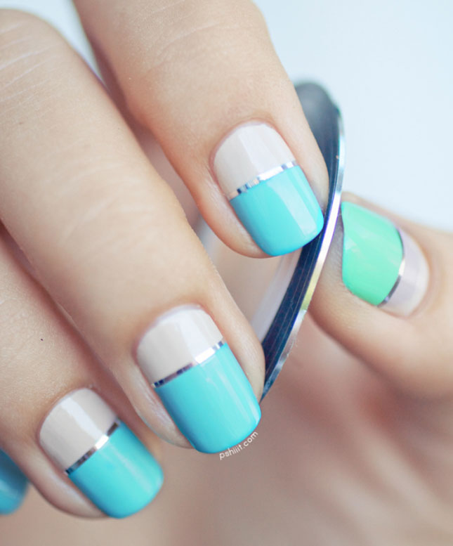 Concrete And Nail Polish Striped Nail Art: 60 Latest Stripes Nail Art Design Ideas