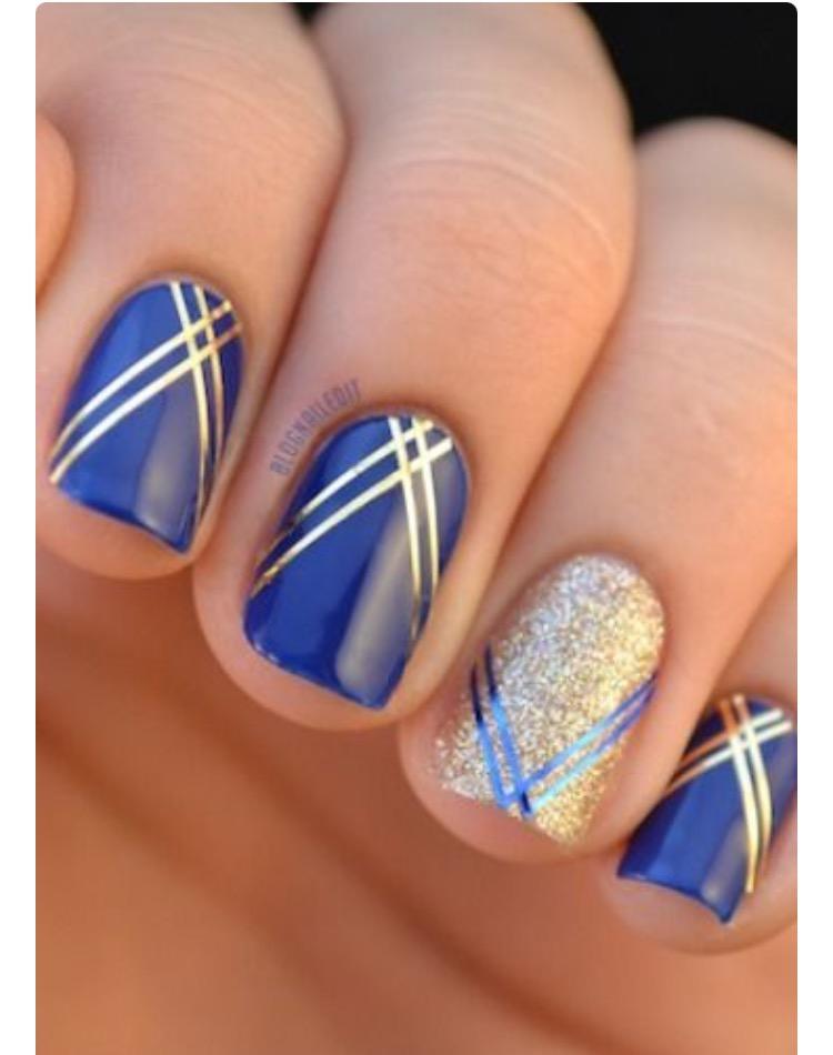 Nail Designs Gold Stripe Diy Gold Striped Nails