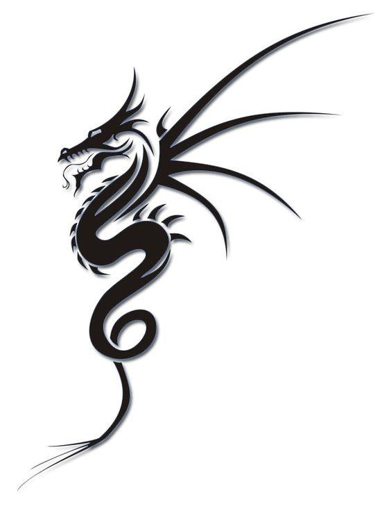 32 simple tribal dragon tattoos rh askideas com simple dragon tattoo download simple dragon tattoo stencil