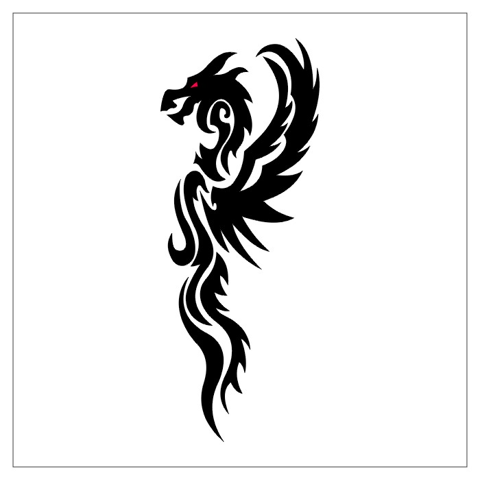 32 Simple Tribal Dragon Tattoos