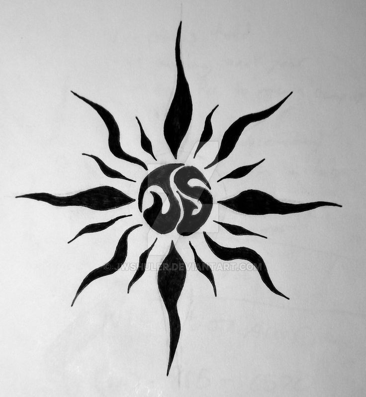 55 Tribal Sun Tattoos Collection