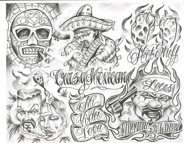 Tatto Crazy Art Ideas: 13+ Latest Chicano Tattoo Designs