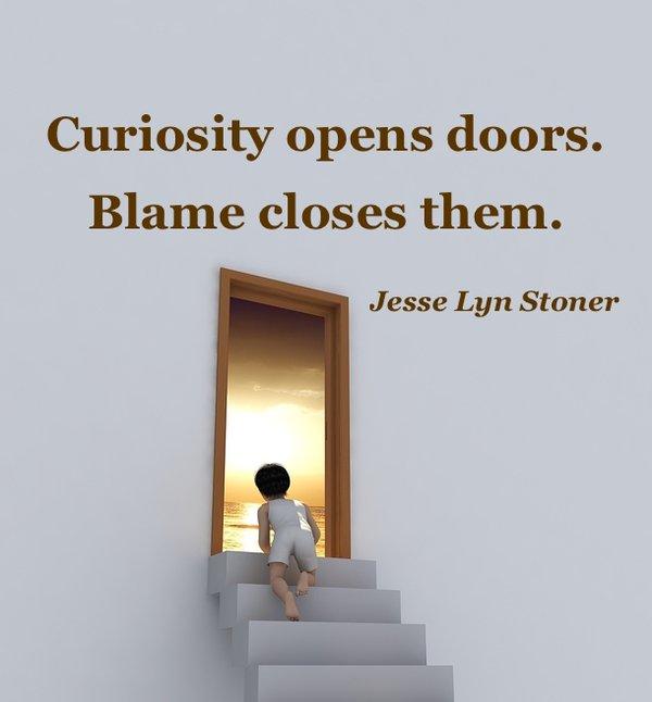 Curiosity opens doors. Blame closes them.