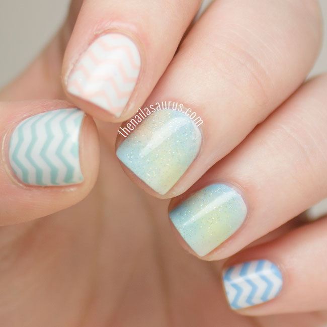 Cute Pastel Nail Art Design Idea