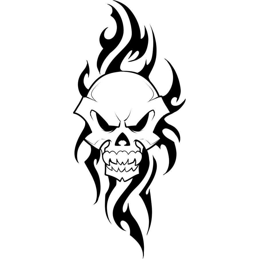 40 tribal skull tattoos ideas rh askideas com tribal skull tattoo tribal skull tattoo designs