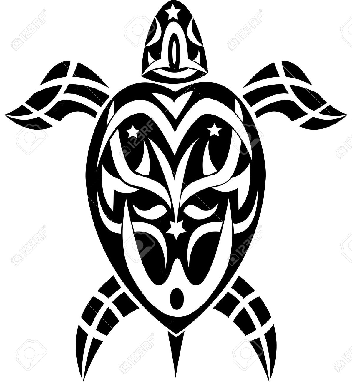 50+ Awesome Tribal Turtle Tattoos Designs