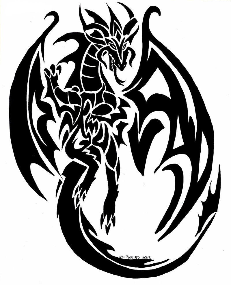 Types Of Dragon Tattoo Ideas: 52+ Latest Tribal Dragon Tattoos Designs