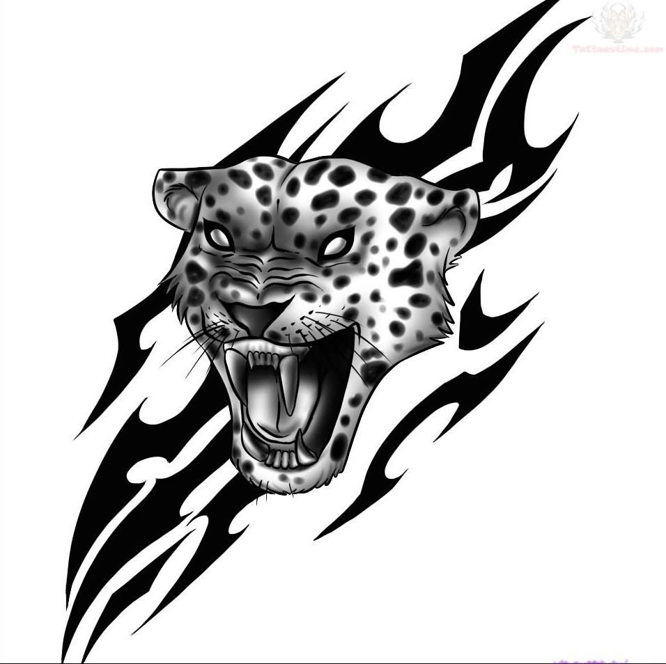 25 tribal jaguar tattoo designs
