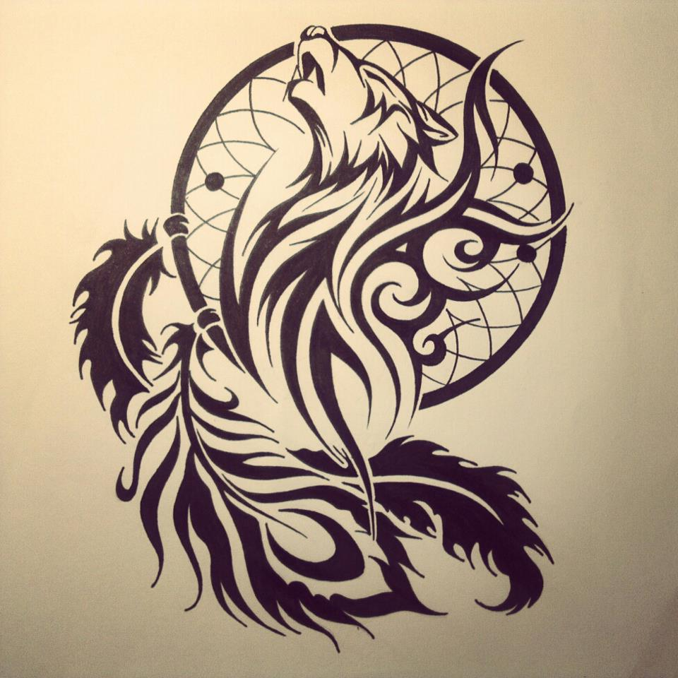 60 tribal wolf tattoos designs and ideas for Tribal art tattoo