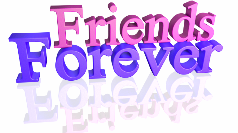 Friends Forever Colorful 32d Text Picture