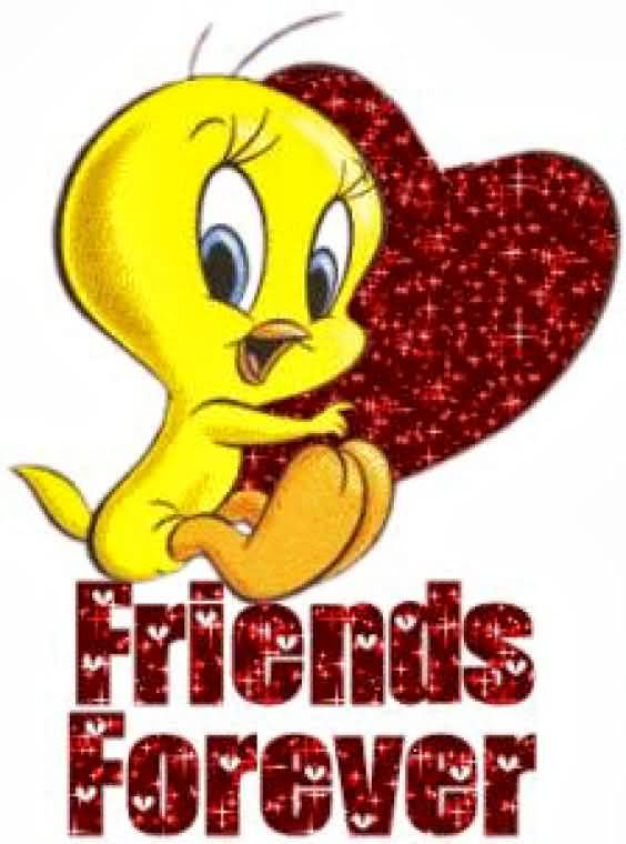Friends Forever Tweety With Heart Picture