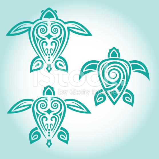 Hawaiian turtle designs color - photo#5