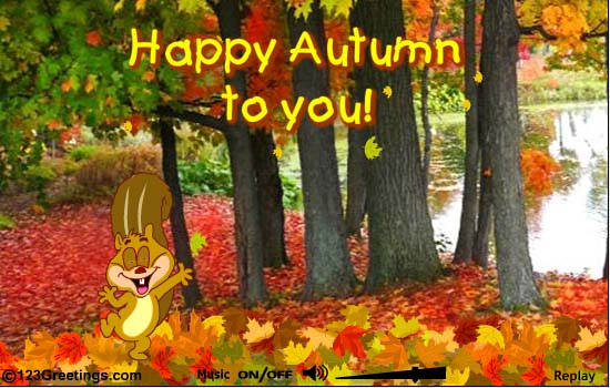 Happy Autumn To You Wishes Picture