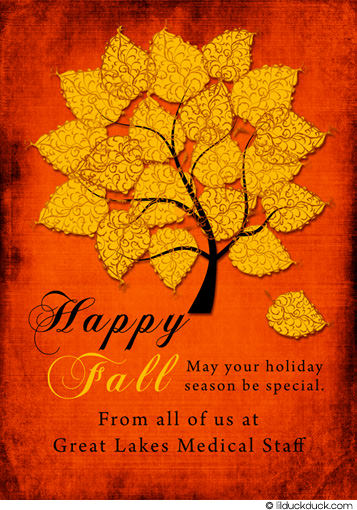 Happy Fall May Your Holiday Season Be Special Card