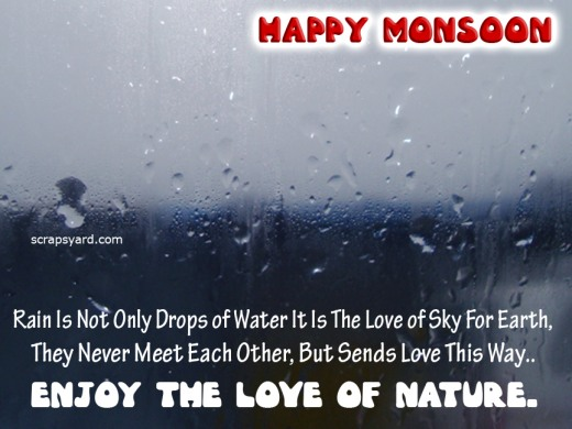 Happy Monsoon Rainy Day Enjoy The Love Of Nature