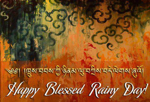 Happy Blessed Rainy Day. Poster courtesy: askideas.com