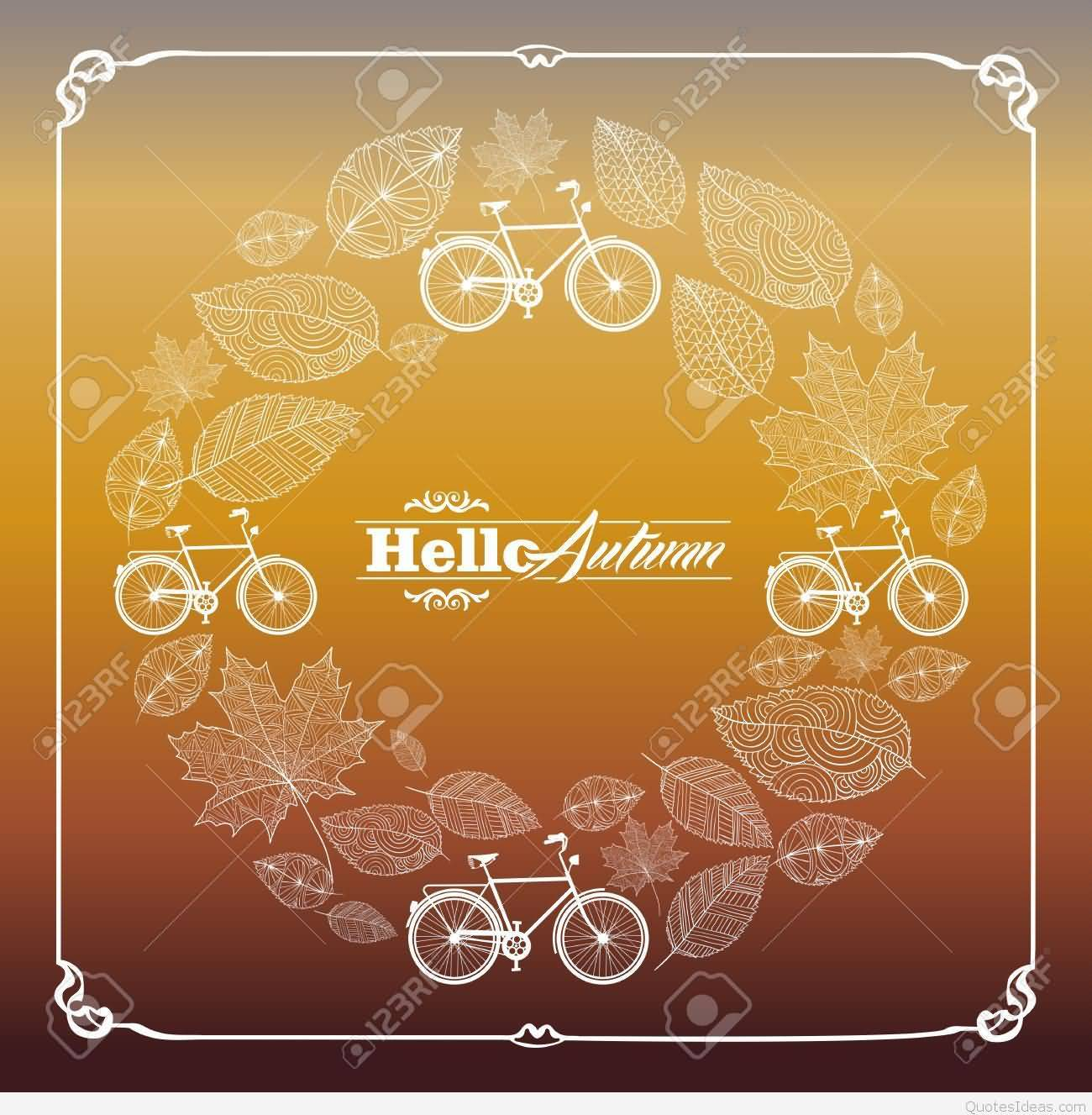 Charmant Hello Autumn Beautiful Greeting Card
