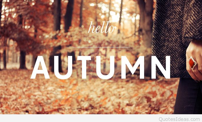 Beautiful Hello Autumn Wishes Picture