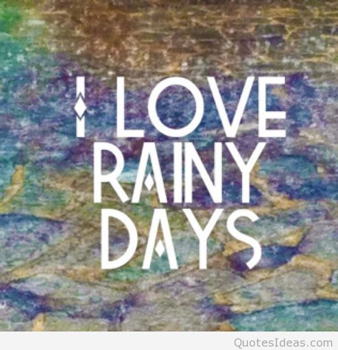 I Love Rainy Days Picture
