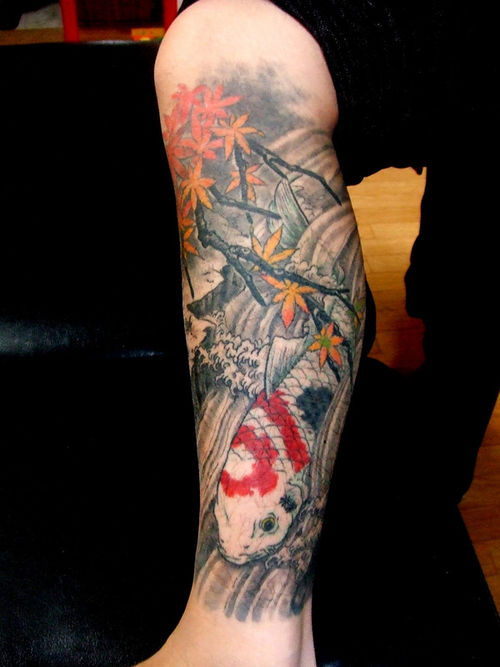 Japanese Garden Tattoo Sleeve