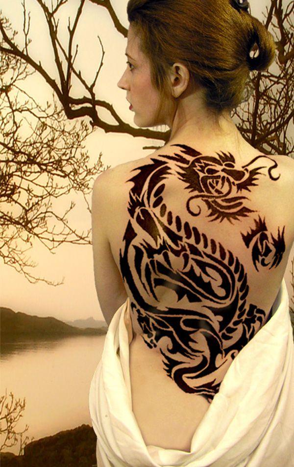 55 best tribal tattoos for women for Back tattoos for women