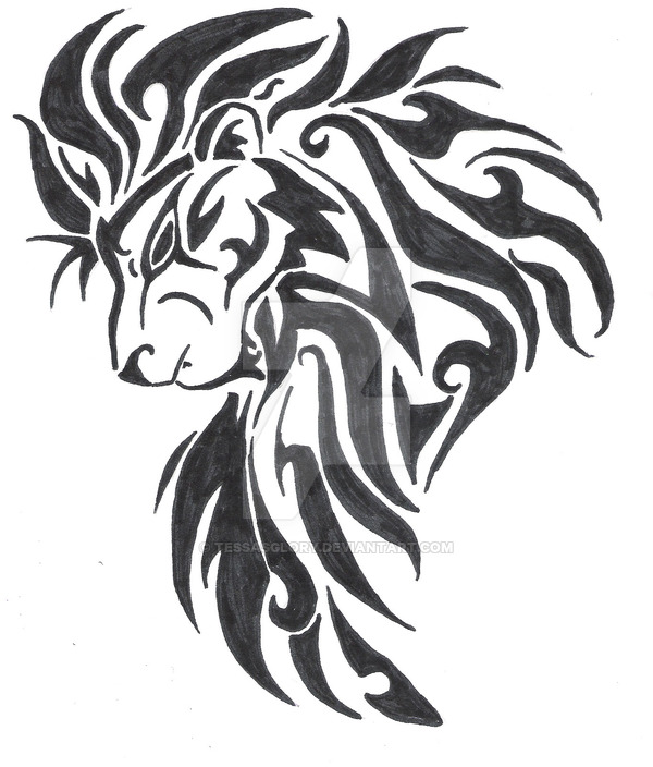 40 Tribal Lion Tattoos