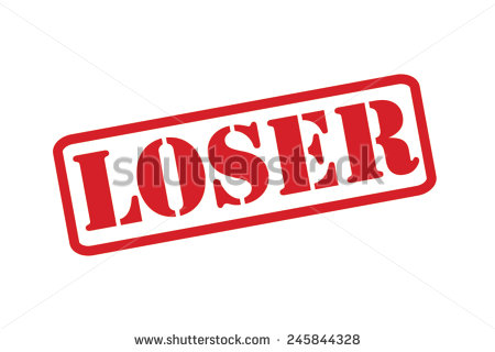 Loser Red Rubber Stamp Picture