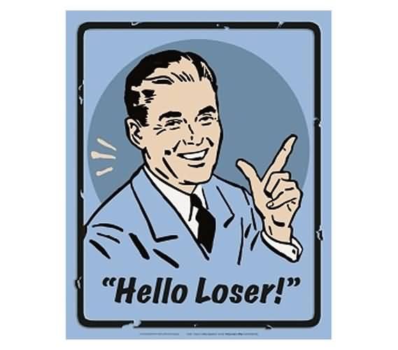 Man With Loser Sign Hello Loser