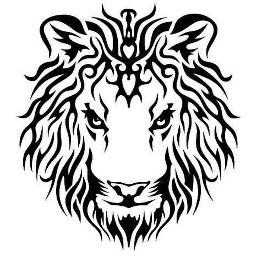 Tribal-Tattoos Marvelous-Tribal-Lion-Head-Tattoo-Design