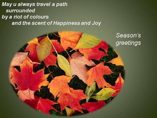 May You Always Travel A Path Surrounded By A Riot Of Colors And The Scent Of Happiness And Joy Happy Autumn